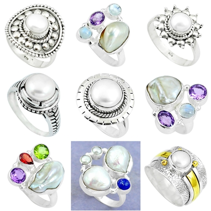 e501f1286 Pearl Rings - Buy Pearl Rings online at Best Prices in India